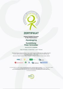 Aquajogging Zertifizierung Frankfurt
